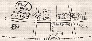 ドッグテイルへの地図